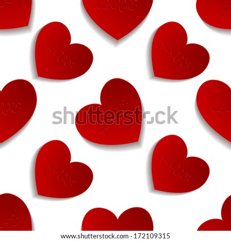 valentine's day seamless pattern background, vector illustration