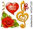 Valentine's Day set 2 - stock vector