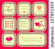 Valentine's day stickers set (vector version) - stock photo