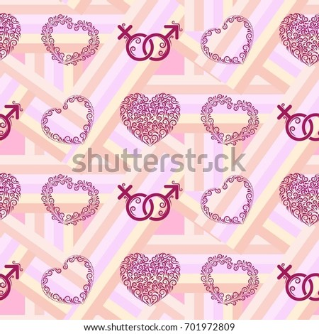 valentines day the human heart love background texture endless abstract pattern