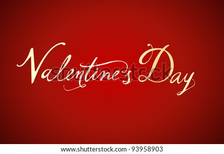 Valentine's Day type text - stock vector