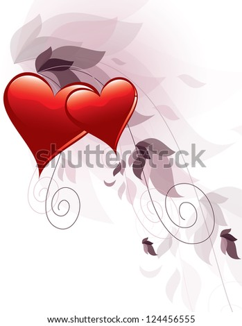 Valentine's Day Vector Background. - stock vector