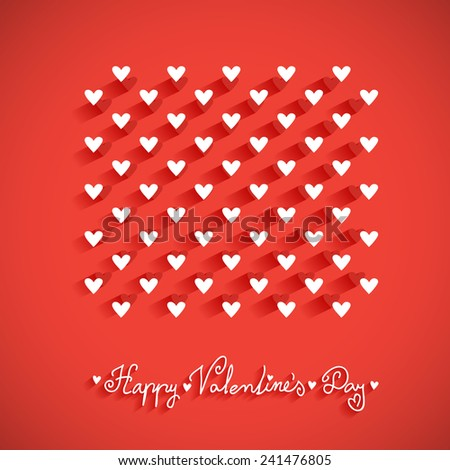 Valentine's day vector vintage, greeting card with little hearts  - stock vector