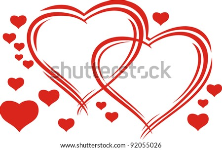 valentine's heart - stock vector
