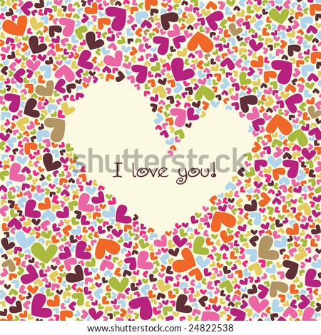 valentine's vector card - stock vector