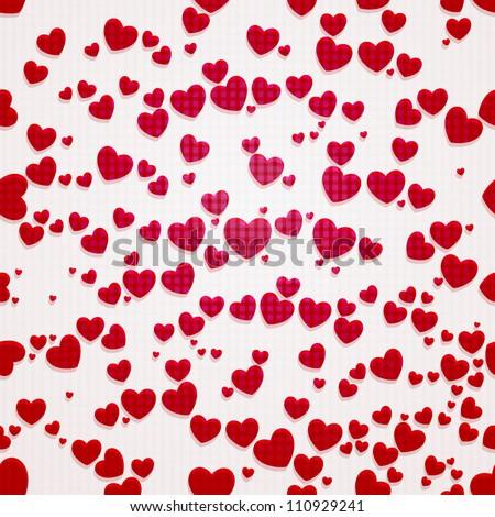 valentine seamless hearts pattern - stock vector