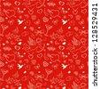 Valentine seamless pattern - stock vector