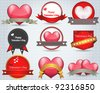 Valentine Sticker Heart Vector - stock vector