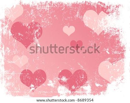 Valentine Vector Grunge Background - stock vector
