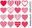 Valentine vector heart, love symbol, pattern, set pictogram - stock photo