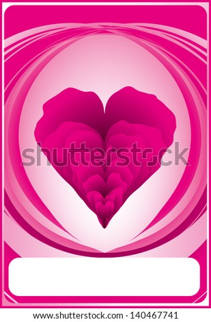 Valentine vector illustration of pink card eps 8 / Valentine vector / ml1413