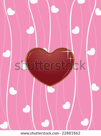 Valentine with seamless love background
