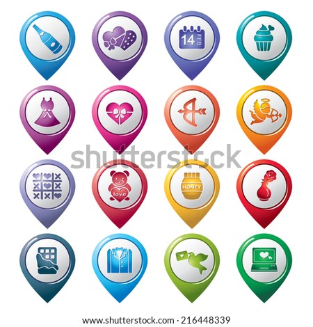 Valentines and Love Pointer Icons