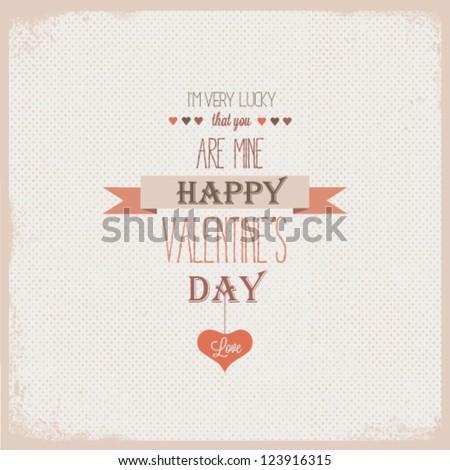Valentines day - stock vector