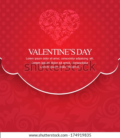 valentines day background/card - stock vector