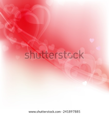 Valentines day background, vector illustration - stock vector
