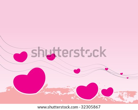 Valentines Day background with Hearts element for design