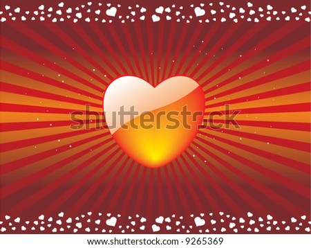 Valentines Day background with hearts, vector illustration