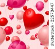 Valentines Day Balloon background seamless vector tile - stock vector