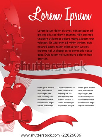 Valentines Day Business Template - stock vector