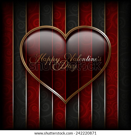 Valentines Day card - background template  - stock vector