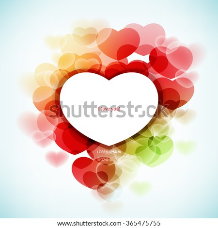 valentines day card vector background - stock vector