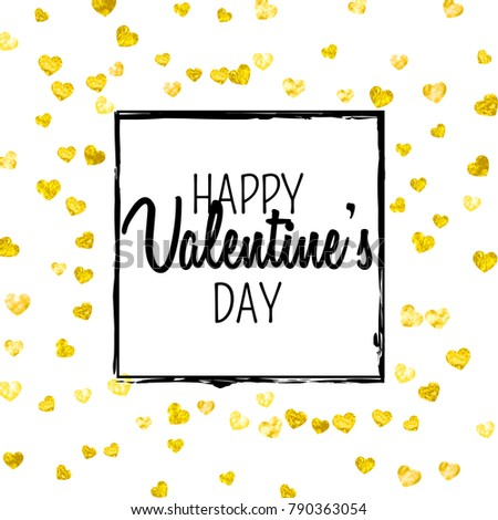 valentines day card gold glitter hearts stock vector 790363054, Ideas