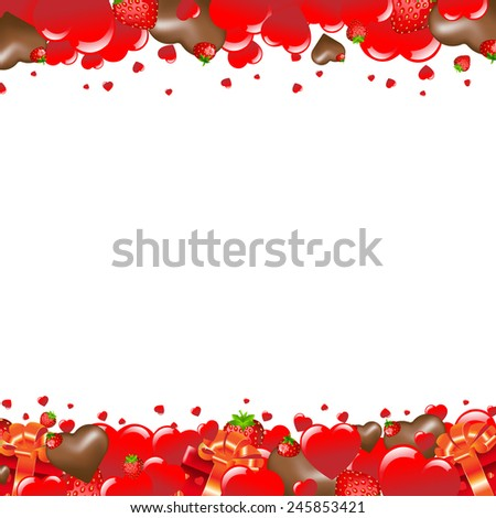 Valentines Day Card With Heart With Gradient Mesh, Vector Illustration - stock vector