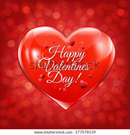 Happy Valentines Day Lettering Greeting Card Vector – Valentines Day Cards Greetings