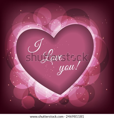 Valentines day frame vector background with heart. Vectir eps 10 - stock vector