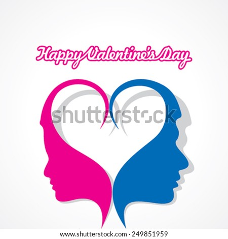 Valentines day greeting card design vector illustration - stock vector