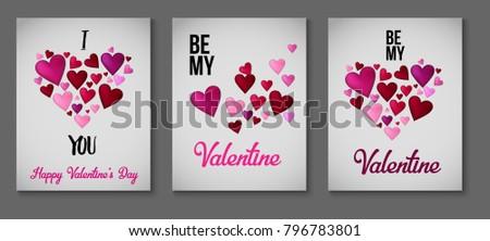 Valentines Day Greeting Cards Sale Banner Stock Vector 796783801