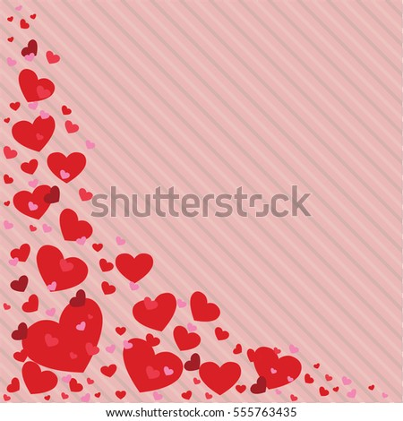 Valentines Day Heart Vector Illustration Different Stock Vector ...