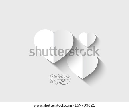 Valentines day hearts, eps10 vector  - stock vector
