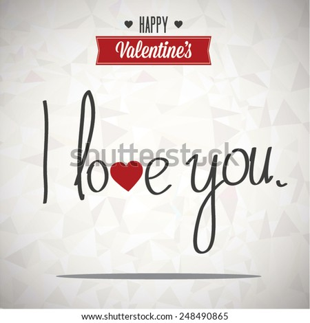 Valentines Day - I Love you - background vector - stock vector
