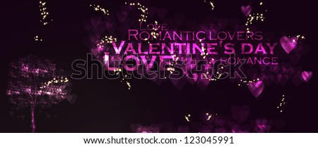 Valentines day illustration, abstract tree in the hearts background eps10 - stock vector