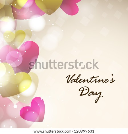 Valentines Day, Love Background. EPS 10. - stock vector
