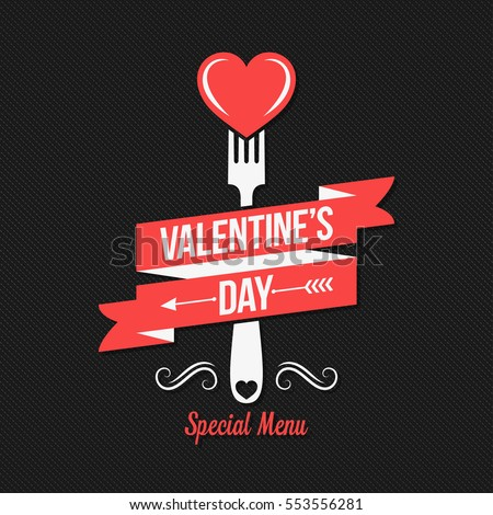 Valentines day menu design background.