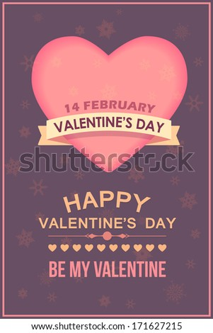 Valentines Day Poster Template Cards, Background, Banner Desgn - stock vector