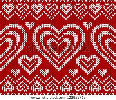 Knitting Pattern Jumper With Heart : Lets Love : Shutterstock Stock Photography