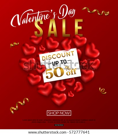 valentines day sale banner design online stock vector 572777641, Ideas