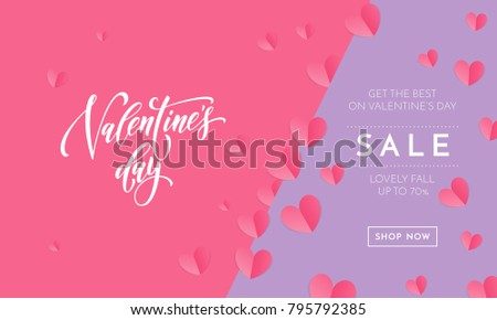 Saint Valentine Vector Heart Calligraphy Text Stock Vector ...