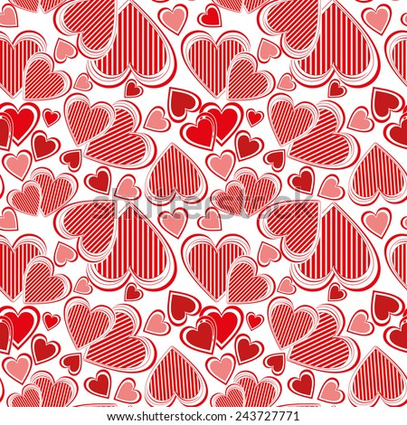 Valentines day, seamless pattern - stock vector