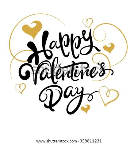 valentines day, text, valentine card, lettering, graphic design, vector art - stock vector