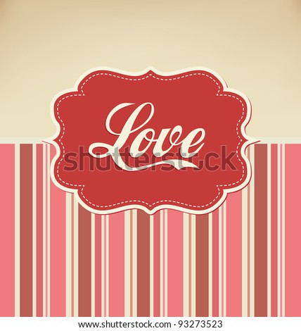 Valentines Design - Retro Love - stock vector