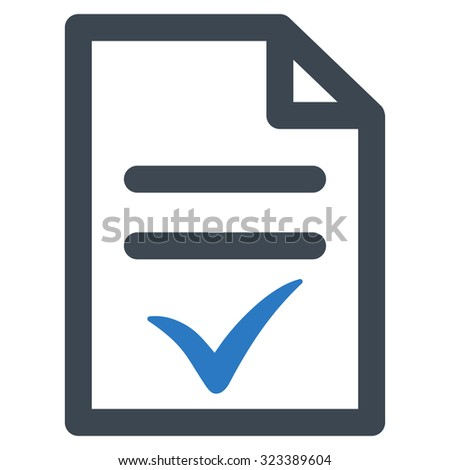 Valid Document Vector Icon Style Bicolor Stock Vector