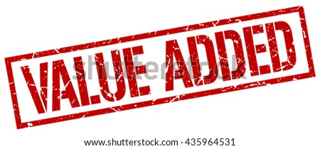 value added stamp.stamp.sign.value.added. - stock vector