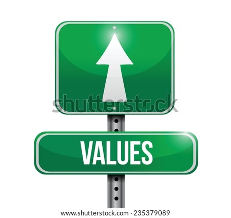 values street sign illustration design over a white background - stock vector