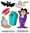 Vampire collection on white background - vector illustration. - stock photo