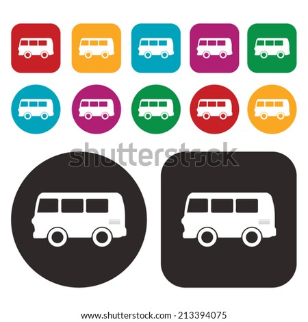 Van icon - stock vector